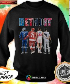 Detroit 4 Stafford Larkin Griffin Mize Signatures Sweatshirt - Design by Agencetees.com