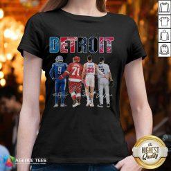 Detroit 4 Stafford Larkin Griffin Mize Signatures V-neck - Design by Agencetees.com