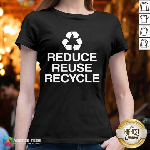 Excellent Reduce Reuse Recycle V-neck