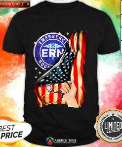 Hot Emergency Room And American Flag Shirt