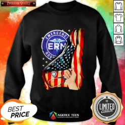 Hot Emergency Room And American Flag Sweatshirt