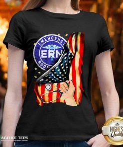 Hot Emergency Room And American Flag V-neck