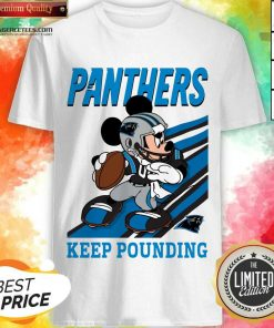 Hot Mickey Mouse Carolina Panthers Keep Pounding Shirt