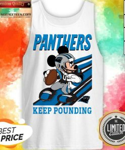Hot Mickey Mouse Carolina Panthers Keep Pounding Tank Top