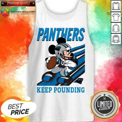 Hot Mickey Mouse Carolina Panthers Keep Pounding Tank Top