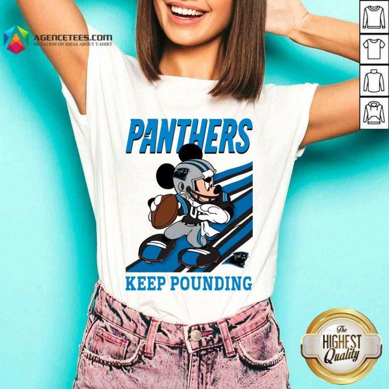 Hot Mickey Mouse Carolina Panthers Keep Pounding V-neck