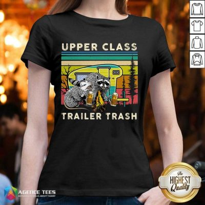 Hot Raccoons And Opossums Upper Class Trailer Trash V-neck