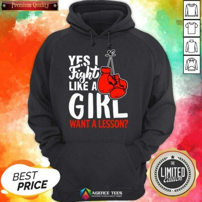 I Fight Like A Girl 1 Boxing Hoodie - Design by Agencetees.com