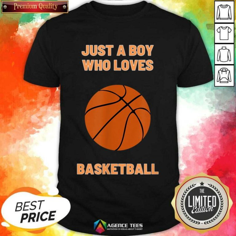 Just A Boy Who Loves 1 Basketball Shirt - Design by Agencetees.com