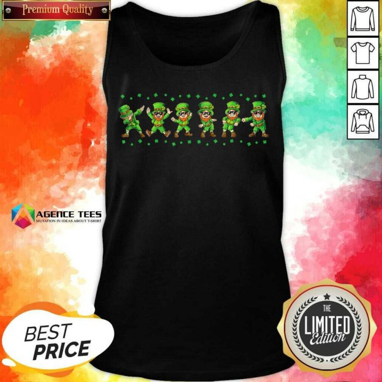 Leprechauns 6 Dancing St Patricks Day Tank Top - Design by Agencetees.com