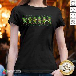 Leprechauns 6 Dancing St Patricks Day V-neck - Design by Agencetees.com