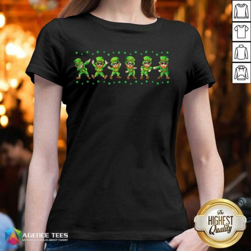 Leprechauns 6 Dancing St Patricks Day V-neck - Design by Agencetees.com