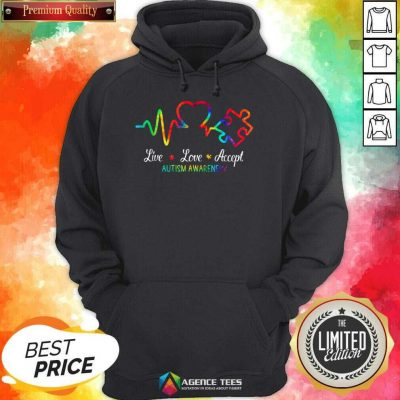 Live Love Accept 2 Autism Awareness Tie Dye Hoodie - Design by Agencetees.com