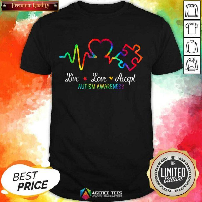 Live Love Accept 2 Autism Awareness Tie Dye Shirt - Design by Agencetees.com