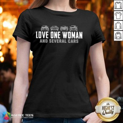 Love One Woman And 1 Several Cars V-neck - Design by Agencetees.com