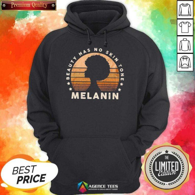 Melanin Beauty Has No 3 Skin Tone Vintage Hoodie - Design by Agencetees.com