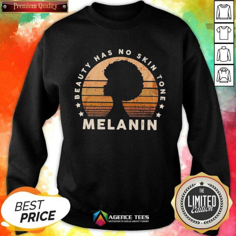 Melanin Beauty Has No 3 Skin Tone Vintage Sweatshirt - Design by Agencetees.com