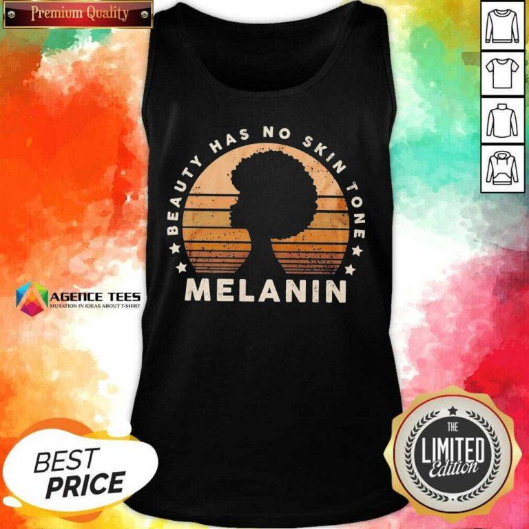 Melanin Beauty Has No 3 Skin Tone Vintage Tank Top - Design by Agencetees.com