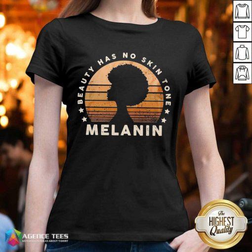 Melanin Beauty Has No 3 Skin Tone Vintage V-neck - Design by Agencetees.com