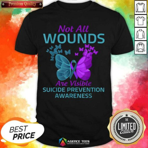 Not All Wounds Are Visible Suicide 7 Awareness Shirt - Design by Agencetees.com