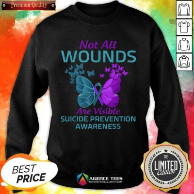 Not All Wounds Are Visible Suicide 7 Awareness Sweatshirt - Design by Agencetees.com