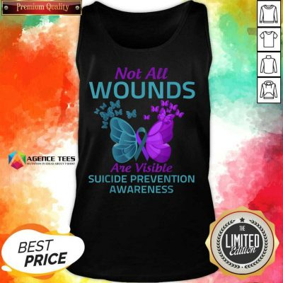 Not All Wounds Are Visible Suicide 7 Awareness Tank Top - Design by Agencetees.com