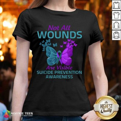 Not All Wounds Are Visible Suicide 7 Awareness V-neck - Design by Agencetees.com