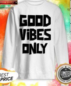 Pretty Coconut Tree Good Vibes Only Sweatshirt