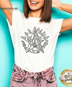 Tetragrammatron 4 V-neck - Design by Agencetees.com