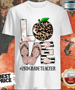 Apple Leopard Love 2nd Grade Teacher Shirt