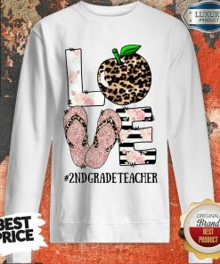 Apple Leopard Love 2nd Grade Teacher Sweatshirt