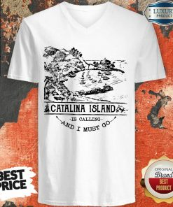 Awesome Camping2801 Catalina Island Is Calling And I Must Go V-neck