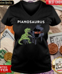 Excellent Pianosaurus V-neck