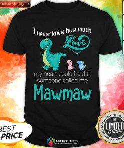 Fantastic Saurus I Never Knew How Much Love Mawmaw Dinosaurs Shirt