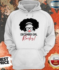 Funny December Girl Rocks Hoodie