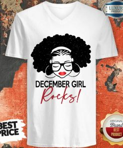 Funny December Girl Rocks V-neck