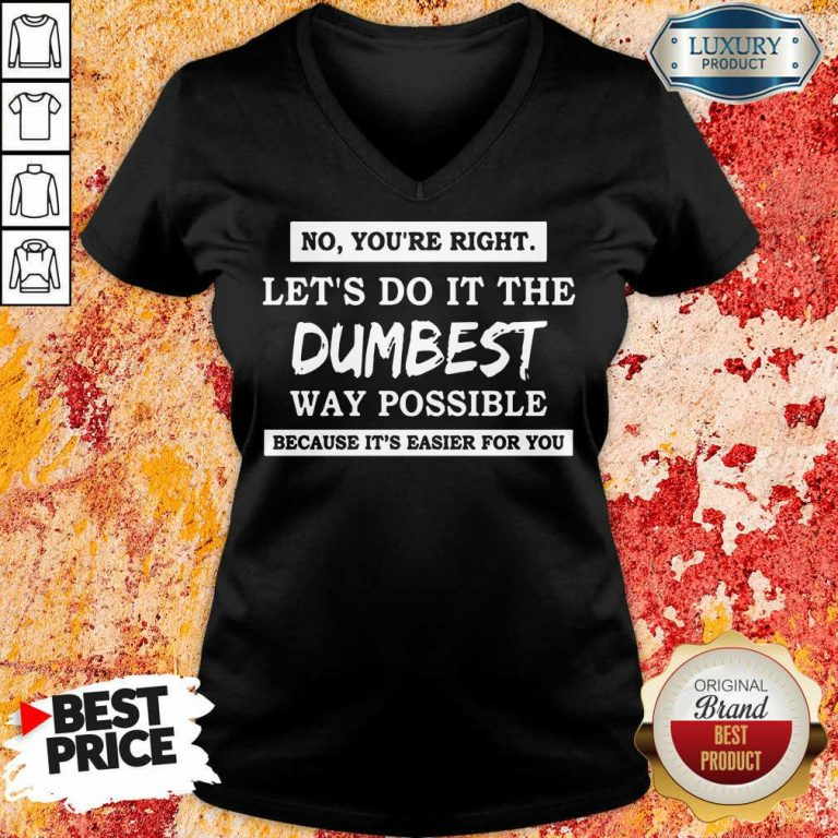 Good No You'Re Right Let'S Do It The Dumbest Way Possible V-neck