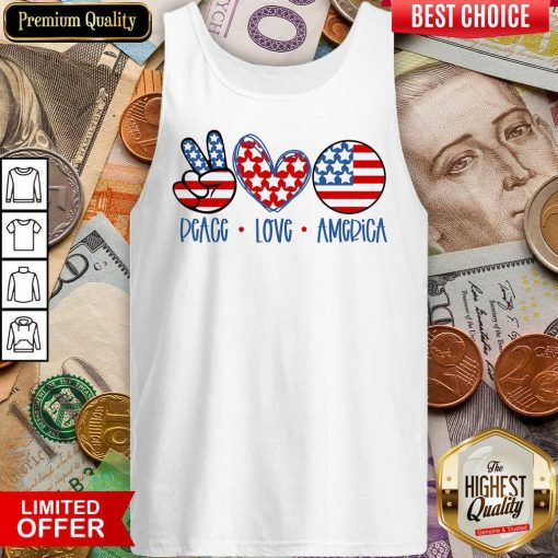 Good Peace Love America Tank Top