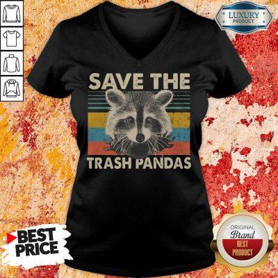 Premium Save The Trash Pandas V-neck