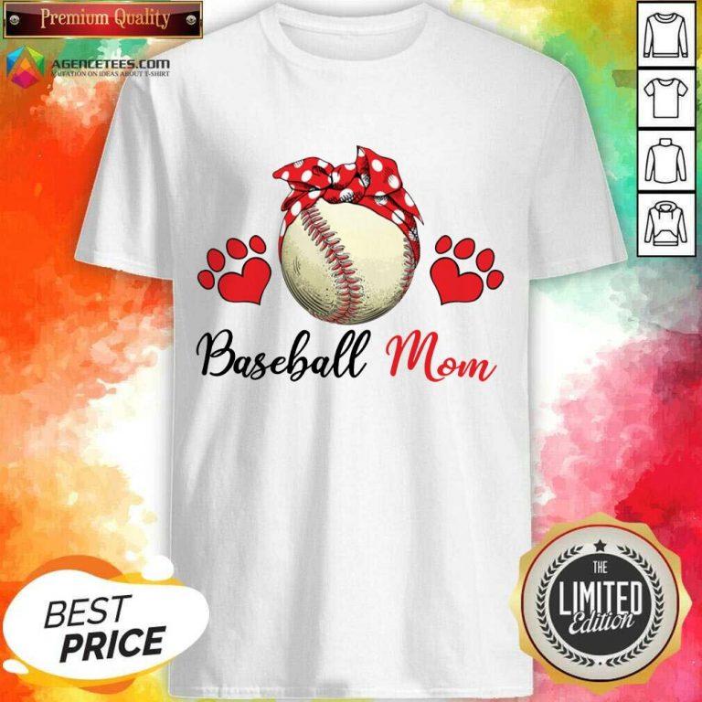 Top Polka Dot Red Baseball Love Mother For Baseball Lover Shirt
