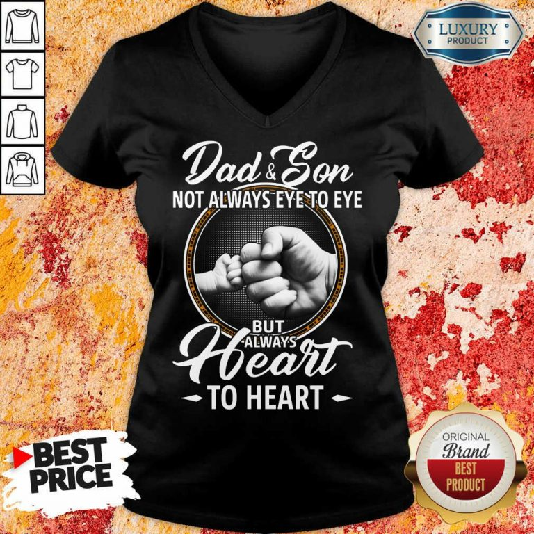 Dad And Son To Heart V-neck