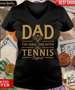 Dad The Tennis Legend V-neck