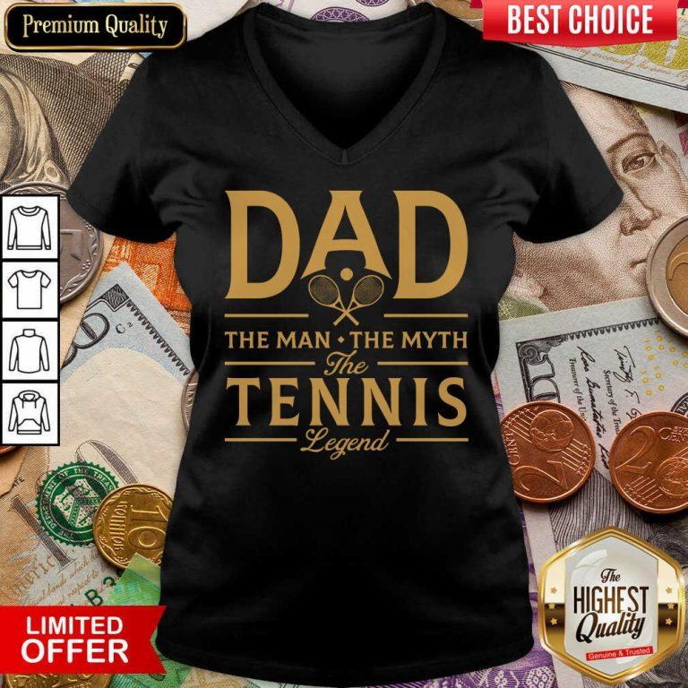 Dad The Tennis Legend V-neck