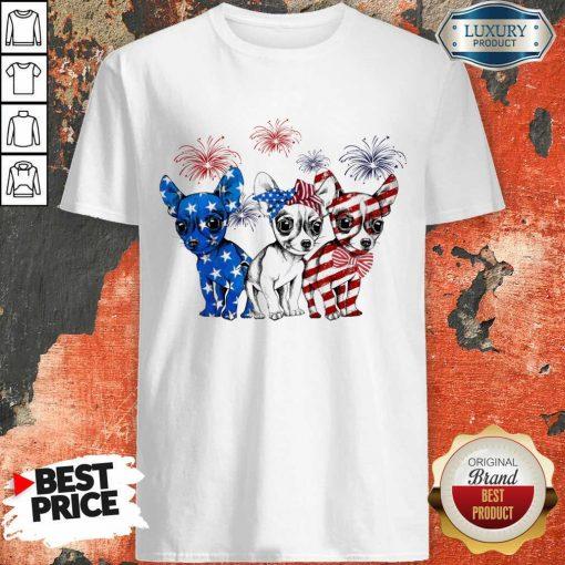 I Love Chihuahua American Flag Shirt