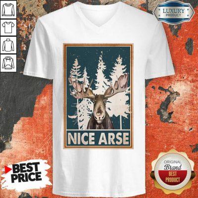Moose Nice Arse Vertical Poster V-neck