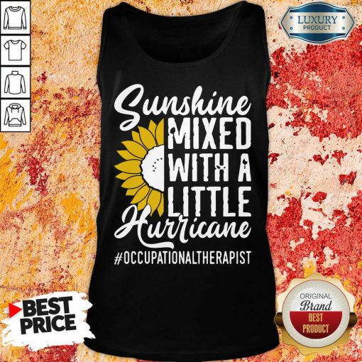 Occupational Therapist Sunshine Mixed Little Hurricane Tank Top