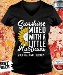 Occupational Therapist Sunshine Mixed Little Hurricane V-neck