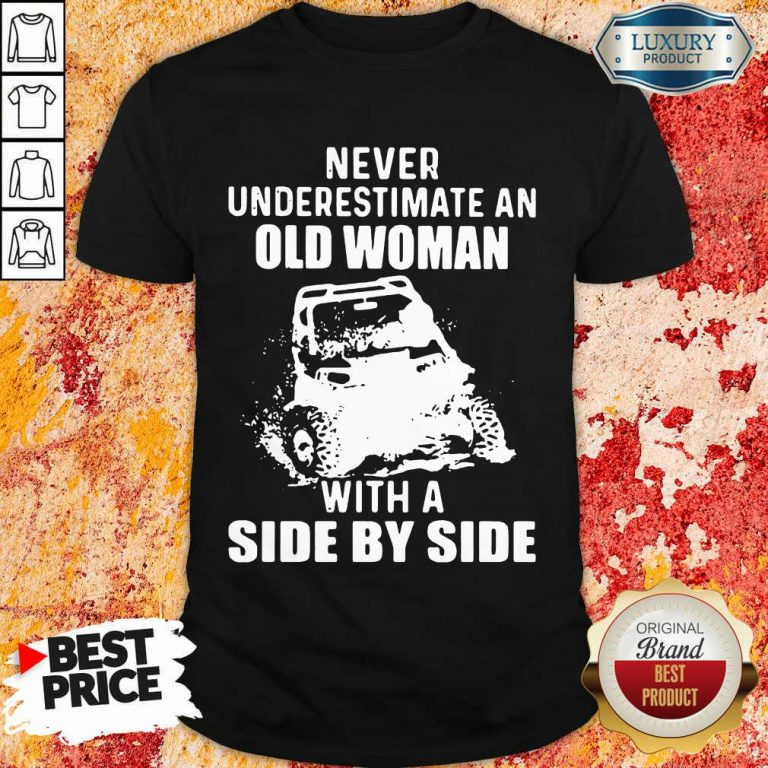 Old Women With A Side By Side Shirt