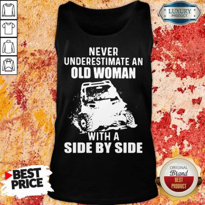 Old Women With A Side By Side Tank Top