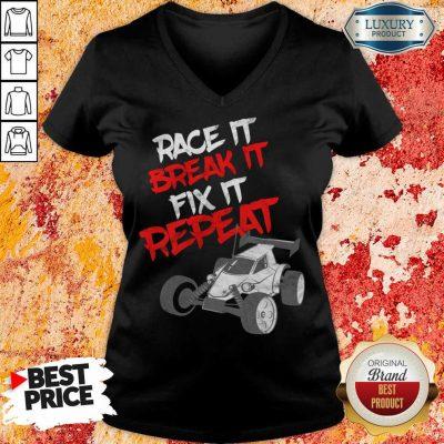 Race It Break It Repeat V-neck